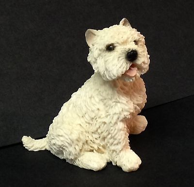 "CASTAGNA Westie WEST HIGHLAND TERRIER Off White Dog FIGURINE 2"" Tall 1992 Italy"