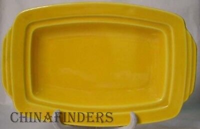 HOMER LAUGHLIN china HARLEQUIN pattern YELLOW BASE for the 1/4 Pound Butter Dish