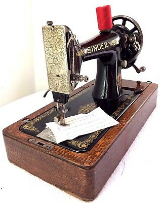 Antique Singer 99k Vintage Hand Crank Sewing Machine ~ Good Working Order