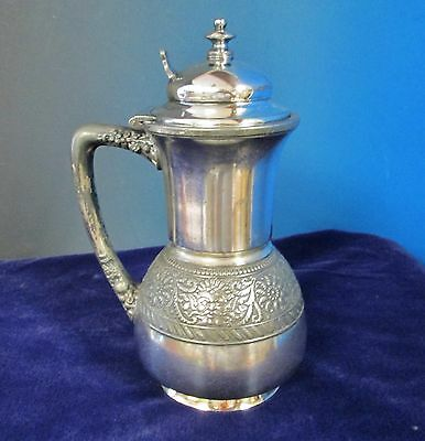 ASSYRIAN HEAD Syrup Pitcher Meriden Brittania Silverplate C1886