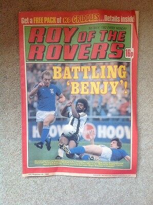 ROY OF THE ROVERS COMIC 8th May 1982. Sign Please Poster John Chiedozie