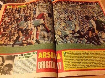 ROY OF THE ROVERS Comic-1976 30/10/76 Alan Kennedy Arsenal Bristol City Poster