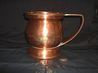 Vintage Antique Victorian Large Copper 1 Quart Mug----(V--Crown Mark To Base)