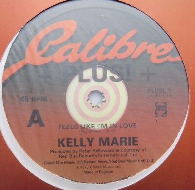 "KELLY MARIE - Feels Like I'm In Love - Excellent Con 12"" Single Calibre PLUSL 1"
