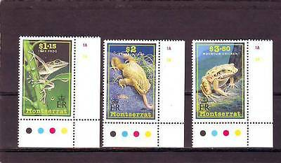 a130 - MONTSERRAT - SG860-862 MNH 1991 FROGS & TOAD