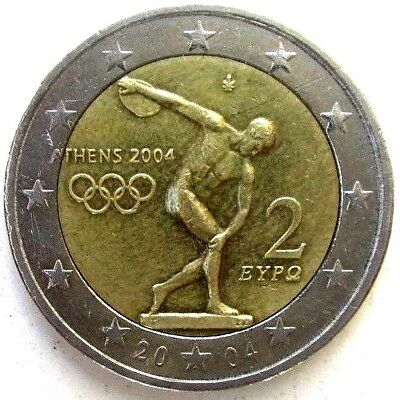 Greece Coins, 2 Euro 2004, Olympic Games Athens 2004