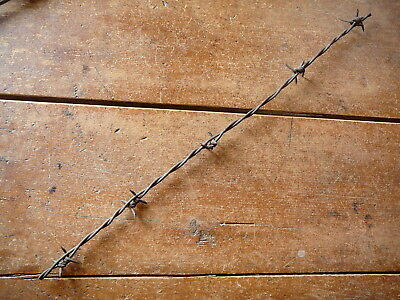 SHINN'S HERRINGBONE FOUR POINT BARB on ONE of TWO LINES - ANTIQUE BARBED WIRE