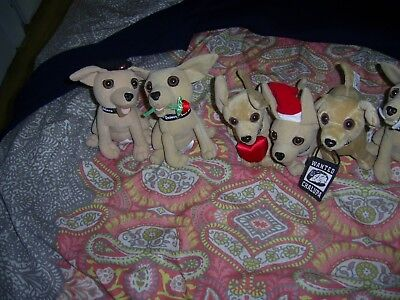 Lot Of 7 Different Talking Taco Bell Chalupa Dogs Santa Rose Heart Sign