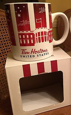 "Tim Horton's Coffee Mugs Traveler Ltd Edition  ""UNITED STATES"" 2016"