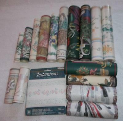 Lot Of 17 Rolls Of Wallpaper Border 14 Different Designs New