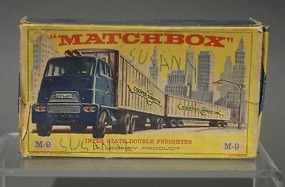 Alter Modell-LKW - Lesney MATCHBOX Inter-State Double Freighter M9 in OVP