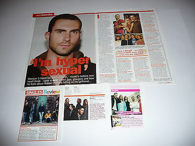 45+ Maroon 5/Adam Levine Cuttings/Clippings (2004-17)