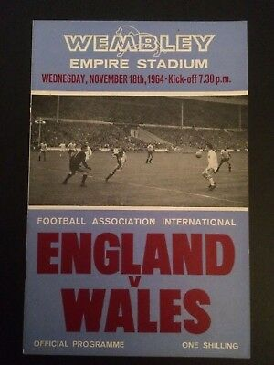 Signed England V Wales with match ticket 1964