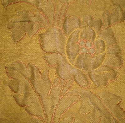 BEAUTIFUL 19th CENTURY FRENCH GOLD THREAD CLOTH OF GOLD BROCADE, ROSES 2.