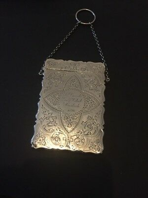 George Unite Solid Silver Card Case On A Chain