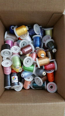 Lot of 30 LARGE Cones (1100 yards each) Polyester Embroidery Machine Thread 40WT
