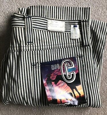 NEW NWT Vintage 70's Contact By MILLER Striped Cotton Cord Pants 33x30 Old Stock