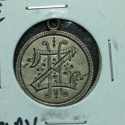 1883 Seated Liberty Silver Dime Love Token ~ Jewelry Piece Nice Detail!!