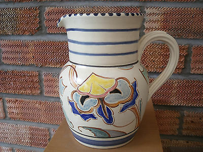 Art Deco Early Honiton Jug 'Jacobean' pattern c1920s/30s marked D.