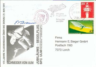 Germany Albrecht Berblinger glider airmail card´86 fa06