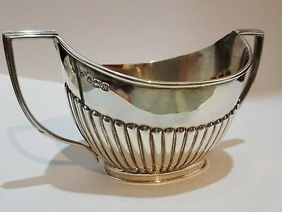 Antique Solid Sterling Silver Sugar Bowl 1890 (Wg.jll)