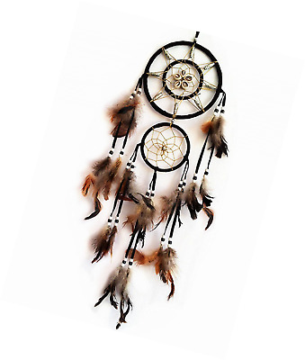 Handmade Dream Catcher with Feathers Wall Hanging Home Decor Ornament ( With Bet