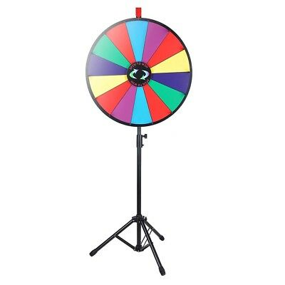 "WinSpin™ 24"" Color Prize Wheel Fortune Folding Floor Stand Carnival Spinnig Game"