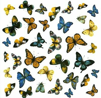 "13336-AAC New Design Butterflies 7-1/4"" X 7-1/4"" Sheet Ceramic Decals Dx"