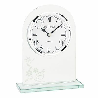 London Clock Co 16cm Glas Bogen TOP Kaminsims Uhr
