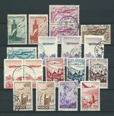 Maroc - Lot - Poste Aerienne - Timbres Obl. / Used