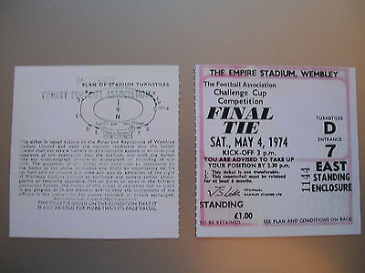 1974 F.A. Cup Final Ticket Liverpool v Newcastle United mint condition.