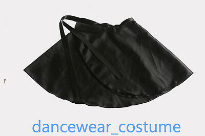 New Girls Kids Chiffon Ballet Leotard Tutu Skirt Dance Hip Wrap Scarf Black C666