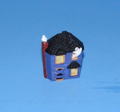 Hallmark Merry Miniature Halloween Haunted House with Ghost Gold Tag