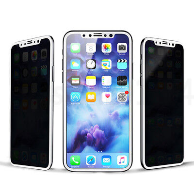 Anti-Spy Privacy Tempered Glass Screen Protector Shield For iPhone 8 / 8 Plus X