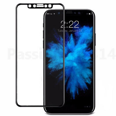 For iPhone 8 / 8 Plus Full Coverage 9H Tempered Glass Screen Protector Film X
