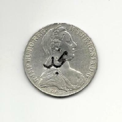 "Hejaz Nejd Saudi 1327Ah Silver C/s On ""maria Theresa"" ""rare"" #4116 Free Usa Ship"