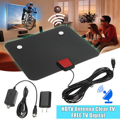 Digital Indoor TV Amplified Antenna HDTV 50Miles Range TVScout TVFox VHF UHF DVB