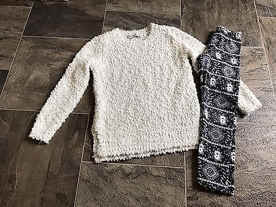 Abercrombie & Fitch Sweater And Leggings Toddler Size 5/6 EUC