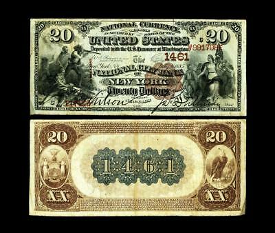 New York, NY - $20 1882 Brown Back Fr. 496 The National City Bank Ch. # 1461