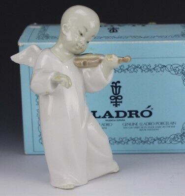 Retired LLADRO Spain Chinese Angel 4536 Playing Music Porcelain Figurine NR KNH