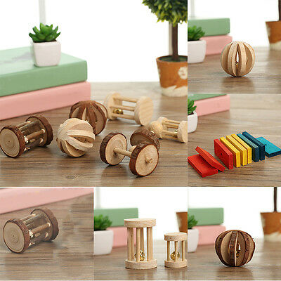 Animal Rabbit Rat Cute Small Chinchilla Guinea Pig Hamster Wooden Toy Chew Toy