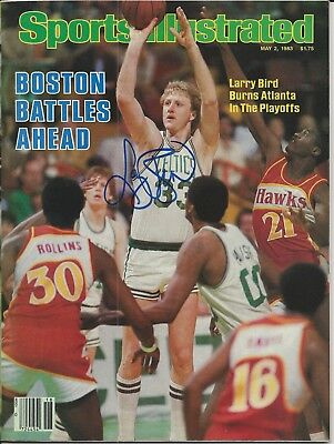 LARRY BIRD Signed SPORTS ILLUSTRATED with Schwartz Sports COA (NO Label)