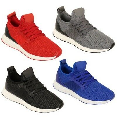 Mens Trainers Shoes Lace Up Running Gym Sports Mesh Casual Summer Fashion New