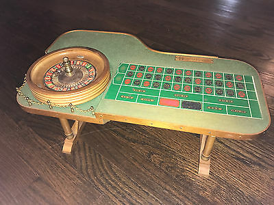 Vintage Wilbur Clark's Desert Inn Las Vegas Casino Mini Roulette Table Wheel