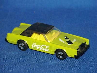 Matchbox 1979 Lime Green Coca-Cola Lincoln Continental Mark V Made in Bulgaria