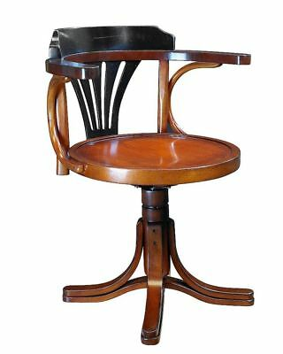 G709: bugholz Writing Desk Swivel Chair in the Navy Style, Viennese Office