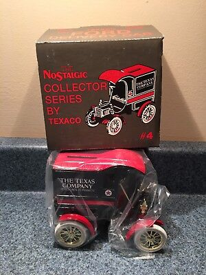 New Never Used  1987 Ertl Texaco 1905 Ford Delive Van Coin Bank Die-Cast # 4 Mib