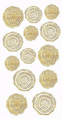 "New Design Mosaics in Gold or Silver 3-1/2"" X 7-1/4"" Sheet Ceramic Decals Dx"