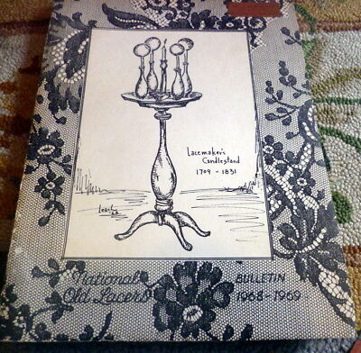 RARE 1968 NATIONAL OLD LACERS Bulletin Patterns & Articles on Lace
