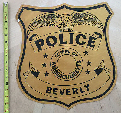 Beverly Police Cop Car Door Decal Commonwealth Of Massachusetts Ma Mass